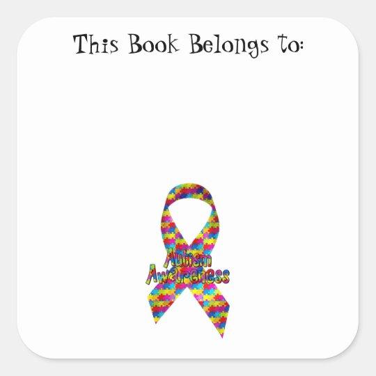 Autism Awareness Ribbon Square Sticker