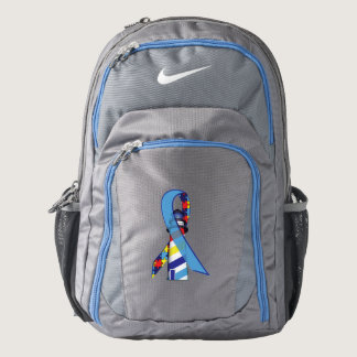 Autism Awareness Ribbon with Lighthouse of Hope Nike Backpack