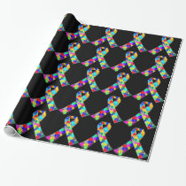 Autism Awareness Ribbon Wrapping Paper
