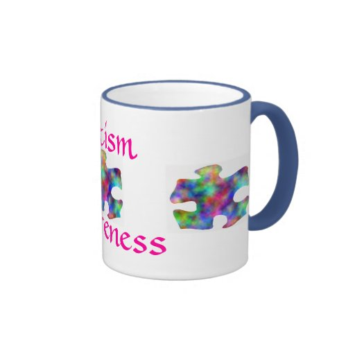 Autism Awareness Ringer Coffee Mug