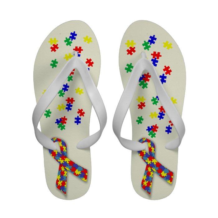 Autism Awareness  Sandalei Women's Sandals