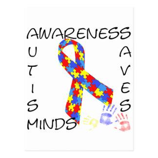 Autism Awareness Saves Minds Postcard