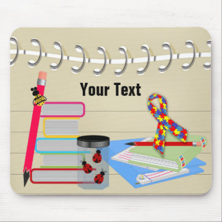 Autism Awareness School Mouse Pad