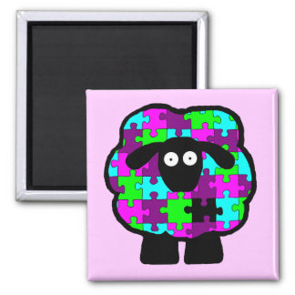 Autism Awareness Sheep Magnet