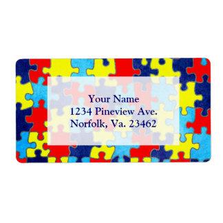 Autism Awareness Shipping Label