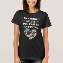 Autism awareness shirt - Be Kind saying shirt