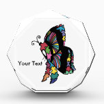 """Autism Awareness side butterfly Award<br><div class=""""desc"""">Autism Awareness  side view butterfly</div>"""