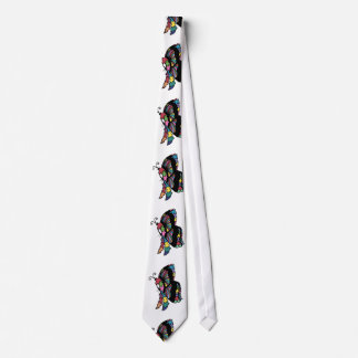 Autism Awareness side butterfly Tie