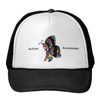 Autism Awareness side butterfly Trucker Hat