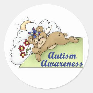 Autism Awareness Sleeping Bear Classic Round Sticker