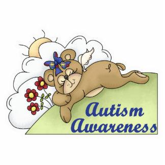 Autism Awareness Sleeping Bear Standing Photo Sculpture