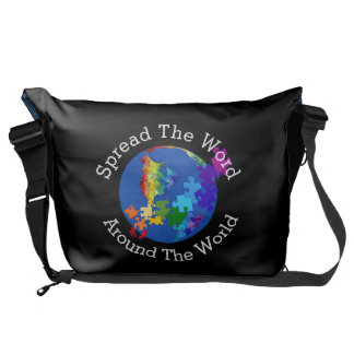 Autism Awareness Spread The Word - Large Messenger Bag