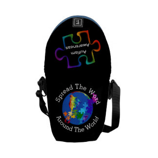 Autism Awareness Spread The Word - Mini Courier Bag