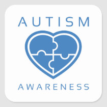 Autism Awareness Square Sticker