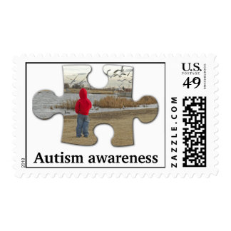 Autism awareness stamp