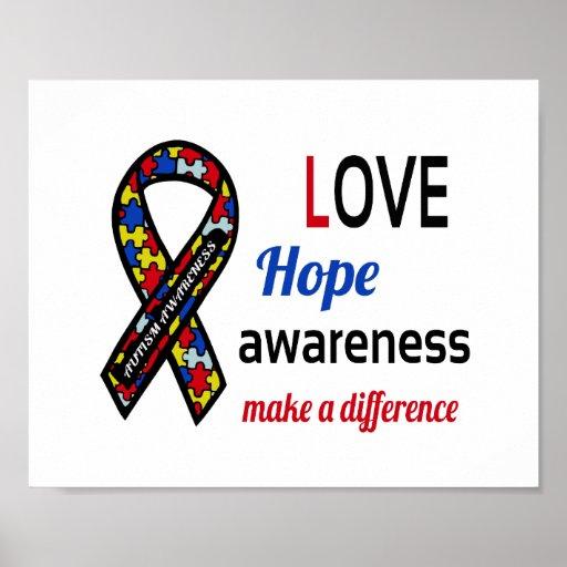 Autism Awareness Art Posters Framed Artwork: Autism Awareness (standard Picture Frame Size) Poster