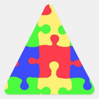 Autism Awareness Triangle Stickers