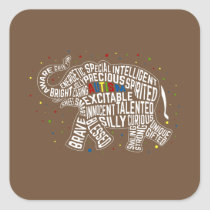 Autism Awareness Sticker: Elephant Sticker