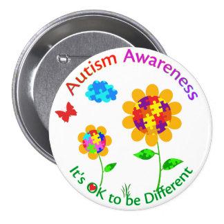 Autism Awareness Sunflower Button