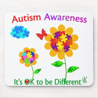 Autism Awareness Sunflower Mouse Pad