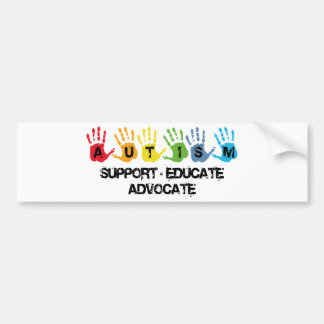 Autism Awareness : Support Educate Advocate Bumper Sticker