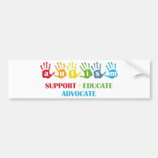 Autism Awareness : Support Educate Advocate Bumper Sticker