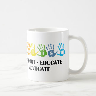 Autism Awareness : Support Educate Advocate Coffee Mug