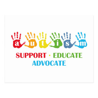 Autism Awareness : Support Educate Advocate Postcard