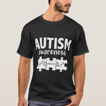 Autism Awareness Support Jigsaw Puzzle Women_s Aut T-Shirt