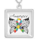 Autism Awareness Tattoo Butterfly Pendants