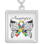 Autism Awareness Tattoo Butterfly Pendants