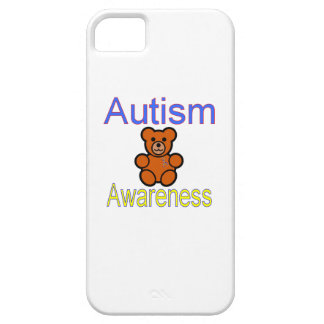 autism awareness teddy bear with ribbon iPhone 5 case