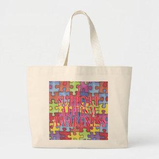 Autism Awareness totebag Large Tote Bag