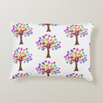 Autism Awareness Tree Accent Pillow