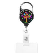 Autism Awareness Tree Badge Holder