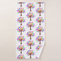 Autism Awareness Tree Bath Towel