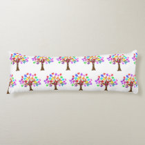 Autism Awareness Tree Body Pillow