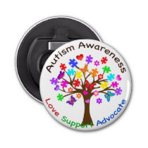Autism Awareness Tree Bottle Opener