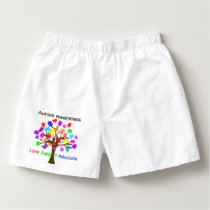 Autism Awareness Tree Boxers