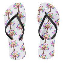 Autism Awareness Tree Flip Flops