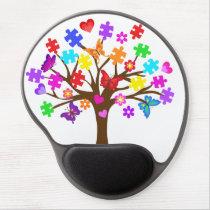 Autism Awareness Tree Gel Mouse Pad
