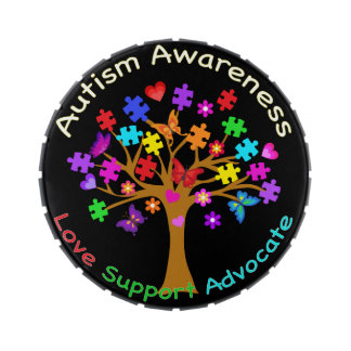 Autism Awareness Tree Jelly Belly Tin