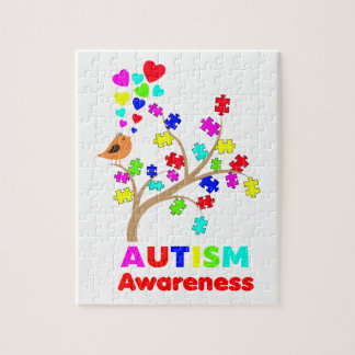 Autism awareness tree jigsaw puzzle