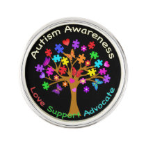 Autism Awareness Tree Lapel Pin