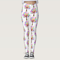 Autism Awareness Tree Leggings
