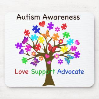 Autism Awareness Tree Mouse Pad
