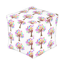 Autism Awareness Tree Outdoor Pouf