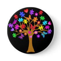 Autism Awareness Tree Pinback Button