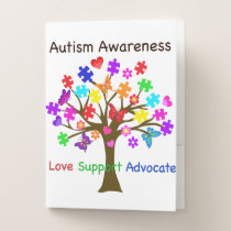 Autism Awareness Tree Pocket Folder