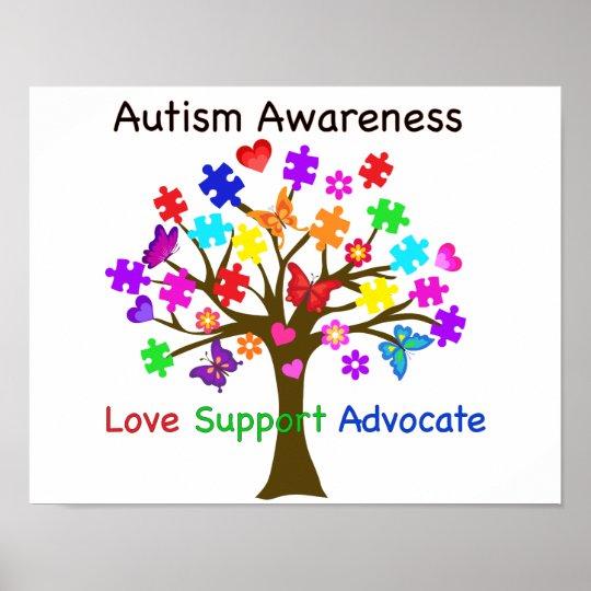 Autism Awareness Tree Poster   Zazzle.com
